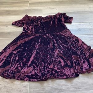 Xhilaration XXL crushed velour skater dress
